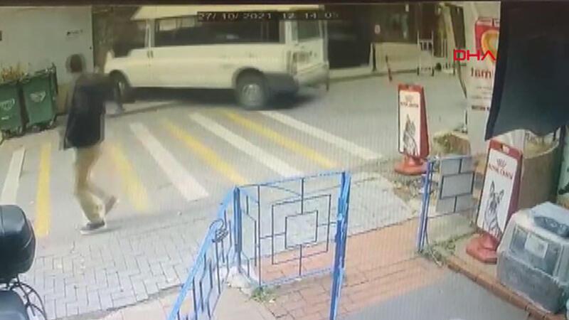 Beşiktaş'ta saniyelerle kurtuluş kamerada