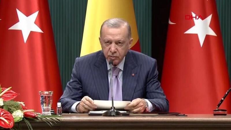 Cumhurbaşkanı Erdoğan, Çad Geçiş Dönemi Devlet Başkanı ile açıklamalarda bulundu