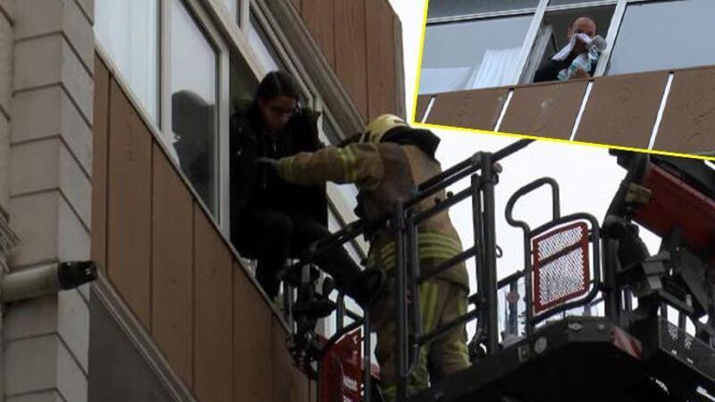 Esenler'de yangın! Binada mahsur kalan 10 kişi kurtarıldı