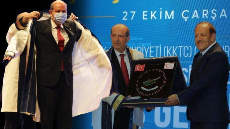 Ersin Tatar'a 'Fahri Doktora' unvanı verildi
