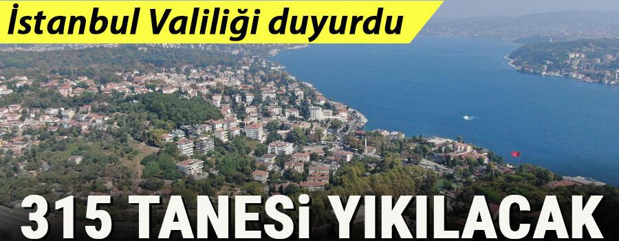 İstanbul Valiliği ormanlarda tespit edilen 315 kaçak yapının yıkılacağını duyurdu