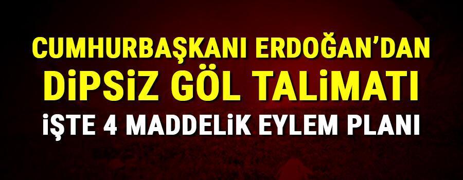 Son dakika... Cumhurbaşkanı Erdoğandan Dipsiz Göl talimatı İşte 4 maddelik eylem planı