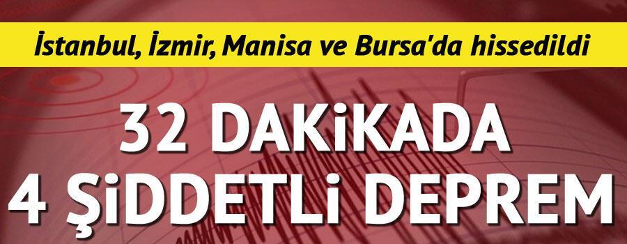 Son dakika... Balıkesirde şiddetli deprem  İstanbul, İzmir, Bursa ve Manisada da hissedildi