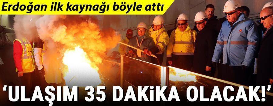 Cumhurbaşkanı Erdoğan'dan İstanbul Havalimanı Metrosu için ilk kaynak