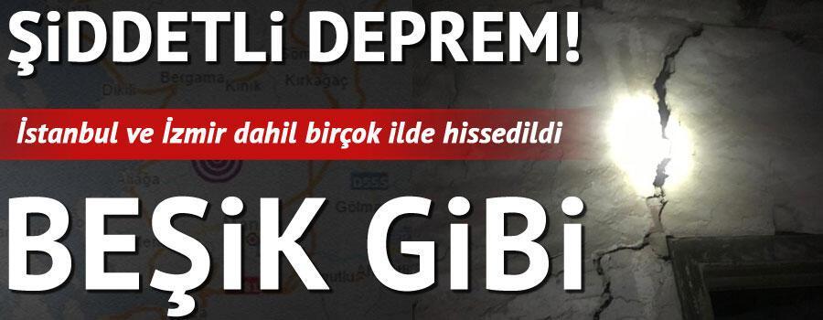 Son dakika haberi Manisada deprem... İstanbulda da deprem hissedildi