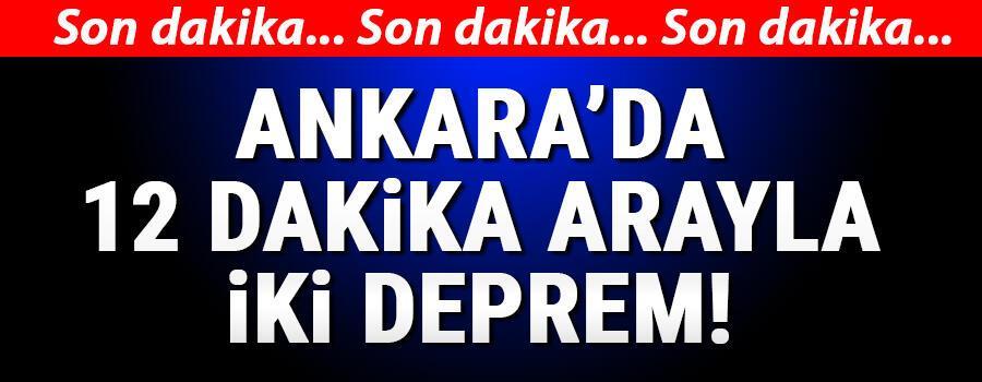 Son dakika haberi: Ankarada 4,5 büyüklüğünde deprem