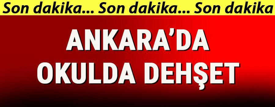 Son dakika haberler... Ankarada okulda dehşet Okul müdürünü yaraladı, intihar etmeye kalktı
