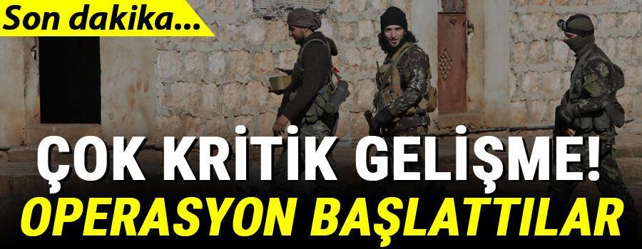 Son dakika haberleri… İdlib'de kritik gelişme Operasyon başlattılar…