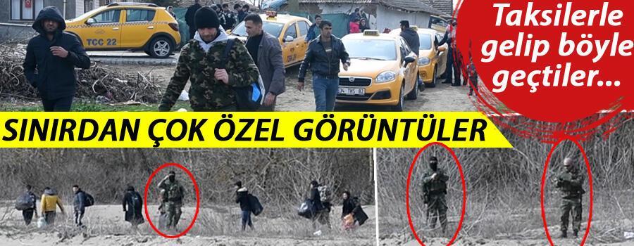 İstanbul'dan taksilerle gelip Yunanistan'a geçtiler Sınırdan çok özel görüntüler…