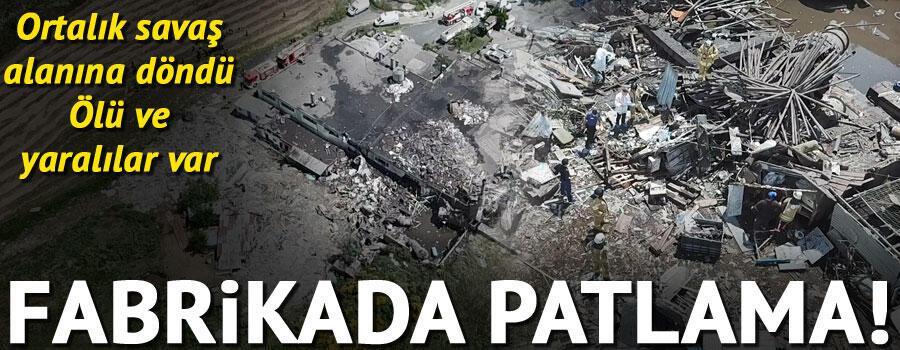 Son dakika haberler... Başakşehirde fabrikada patlama: 2 ölü