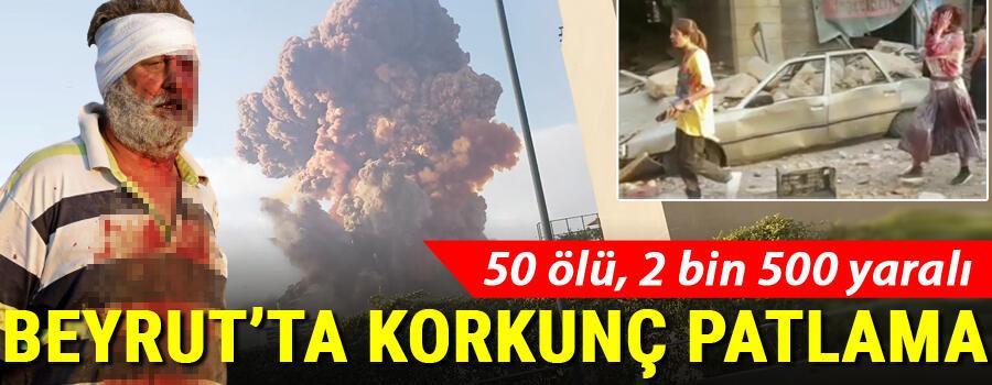 Son dakika haberi: Lübnanın başkenti Beyrutta büyük patlama Çok sayıda ölü ve yaralı var