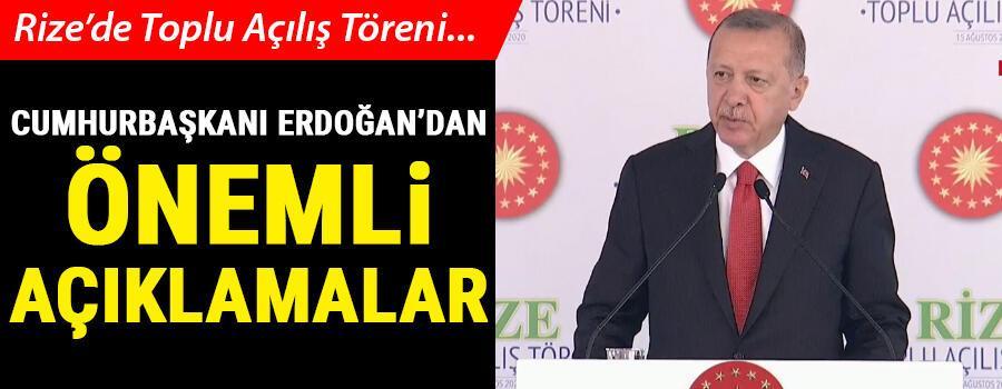 Son dakika haberler... Cumhurbaşkanı Erdoğan Rizede konuşuyor