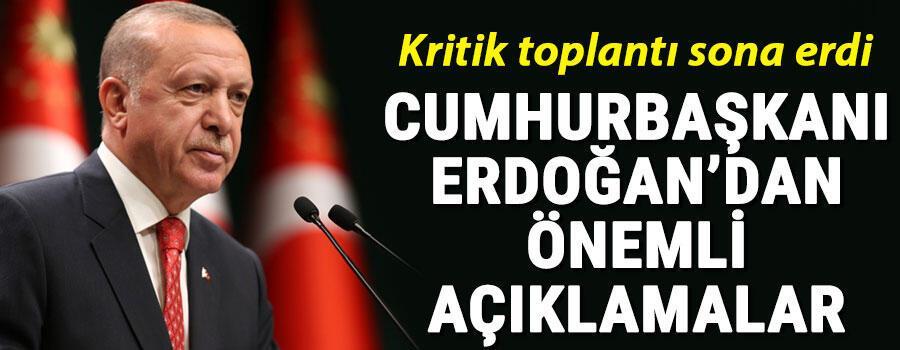 Son dakika haberi: Cumhurbaşkanı Erdoğandan kabine toplantısı sonrası önemli açıklamalar