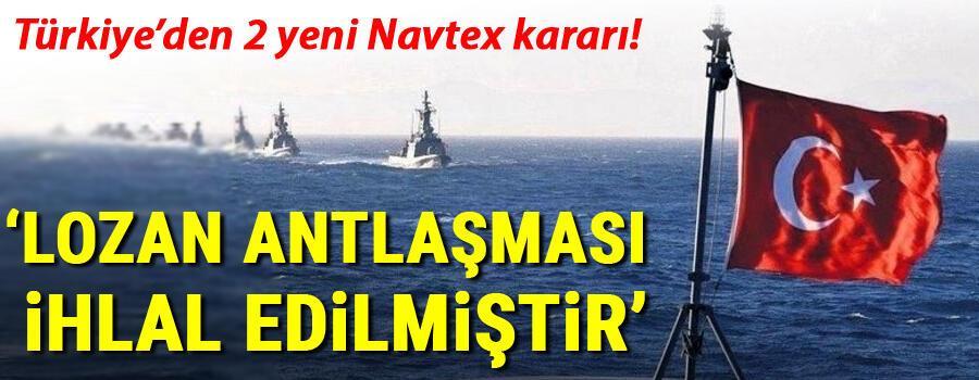 Son dakika haberi: Türkiyeden 2 ayrı NAVTEX ilanı