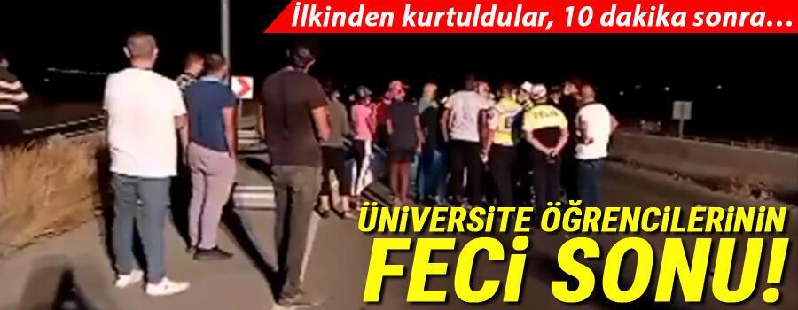 Son dakika: Üniversite öğrencilerinin feci sonu İlkinden kurtuldular 10 dakika sonra…