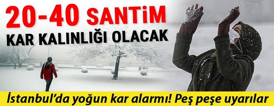 İstanbulda kar ne zaman yağacak Meteorolojiden çok önemli uyarı: Kar kalınlığı 20-40 cm arasında olacak