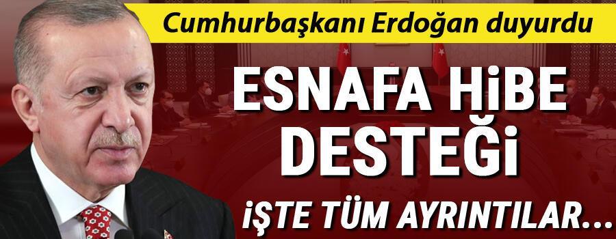 Son dakika haberi: Cumhurbaşkanı Erdoğandan esnafa 5 bin ve 3 bin TL destek müjdesi.. İşte destek verilecek iş grupları..
