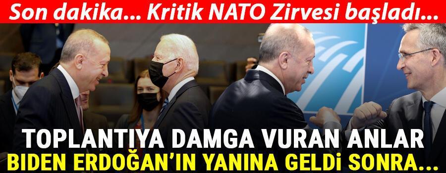 Son dakika: Erdoğanın üç liderle görüşmeleri sona erdi... NATO Zirvesinde resmen başladı