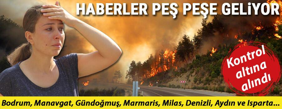 Son dakika... Yangında son durum... Antalyanın Gündoğmuş ilçesindeki yangın kontrol altında İşte orman yangınının devam ettiği yerler