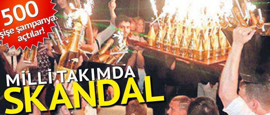 Milli takımda skandal 500 şişe şampanya açtılar