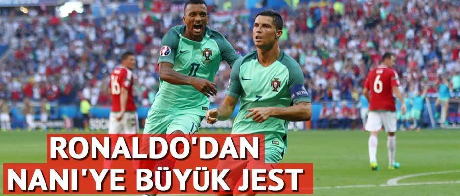 Ronaldodan Naniye anlamlı jest